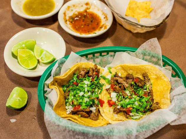 Carne Asada tacos at Tio Luis Tacos.