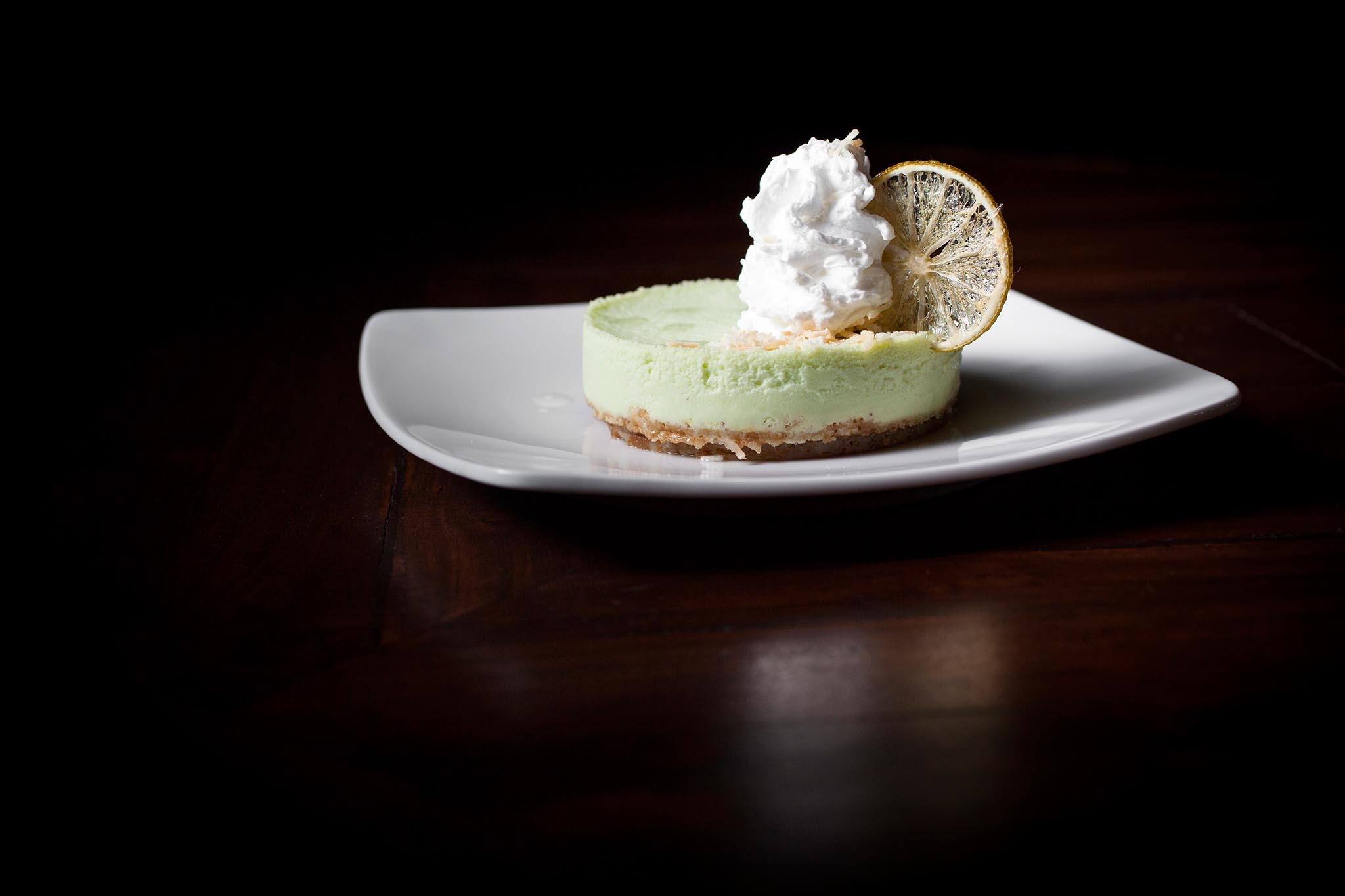 Key lime cheesecake at The Hutchinson Cocktails & Grills
