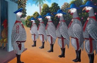 (Fritzner Lamour, 'Poste Ravine Pintade', vers 1980 / © Galerie Monnin, Port-au-Prince )