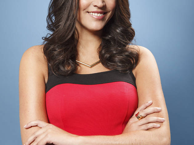 SNL's Weekend Update anchor Cecily Strong, photographed by Dale May.