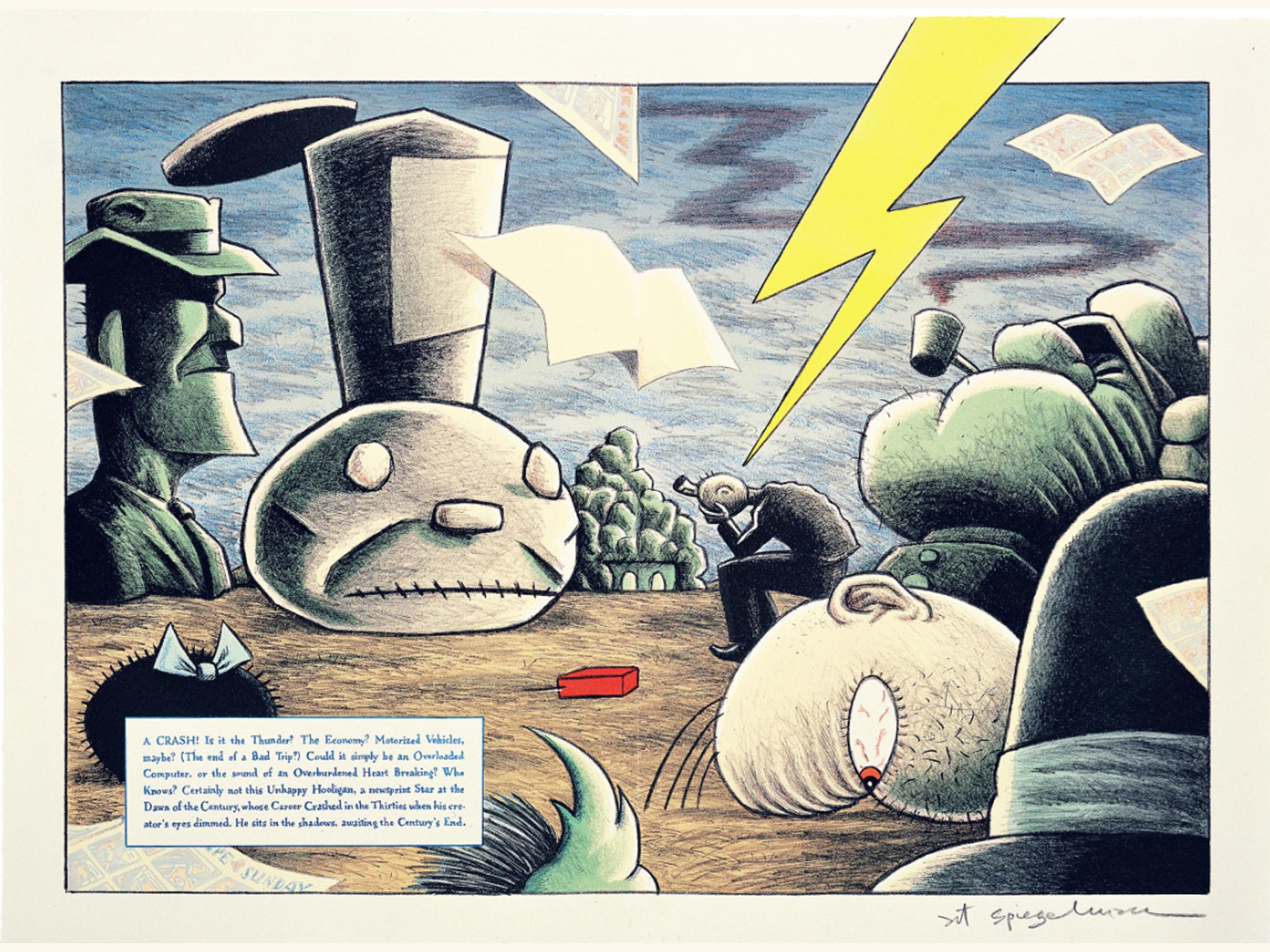 Art Spiegelman, Art Spiegelman,  Lead Pipe Sunday no. 2 (detail), 1997