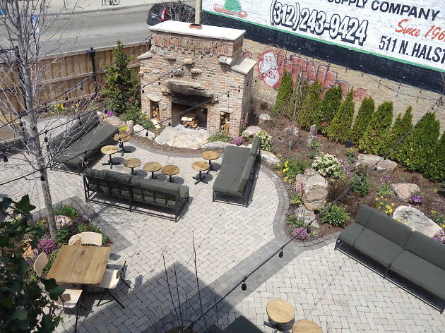 The Dawson has a huge outdoor patio.