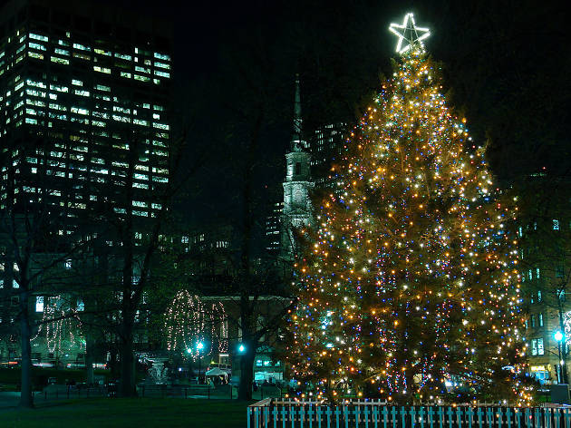Where to see Christmas lights in Boston
