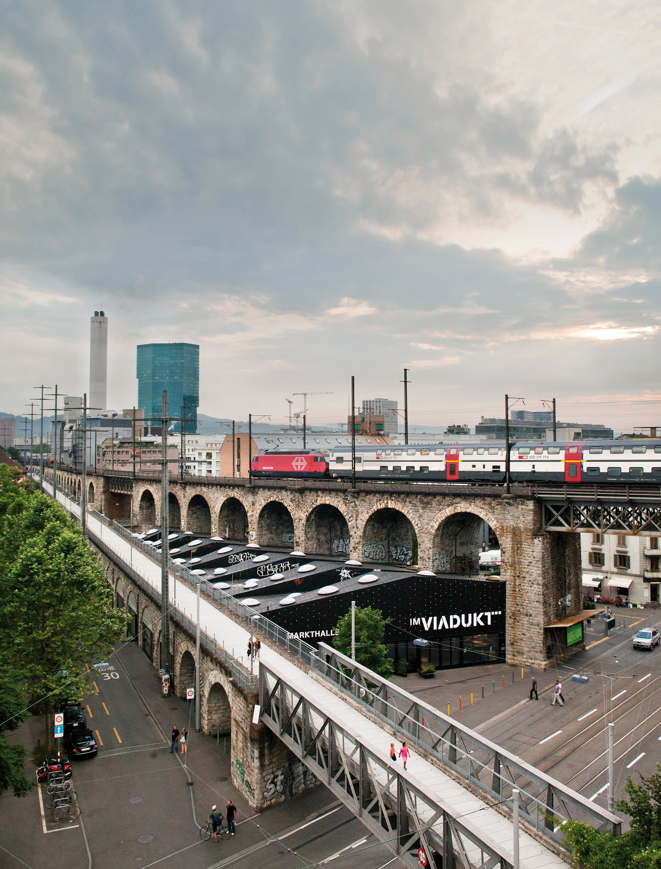 Viadukt in Zurich West.