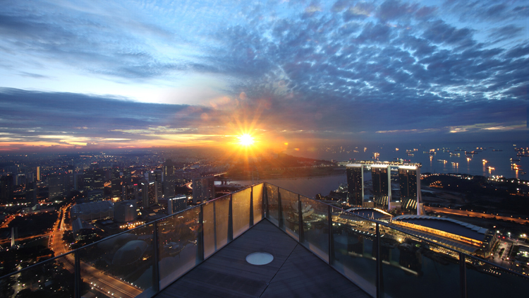 Party on Singapore's highest point