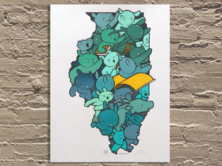 ART (Zach Long) Onward, Illinois! poster by Jay Ryan, $40 at Galerie F