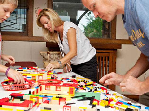 LEGO architects at Robie House