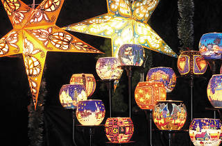 Christmas Market, star lights
