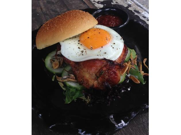Nasi Lemak Burger at Artistry