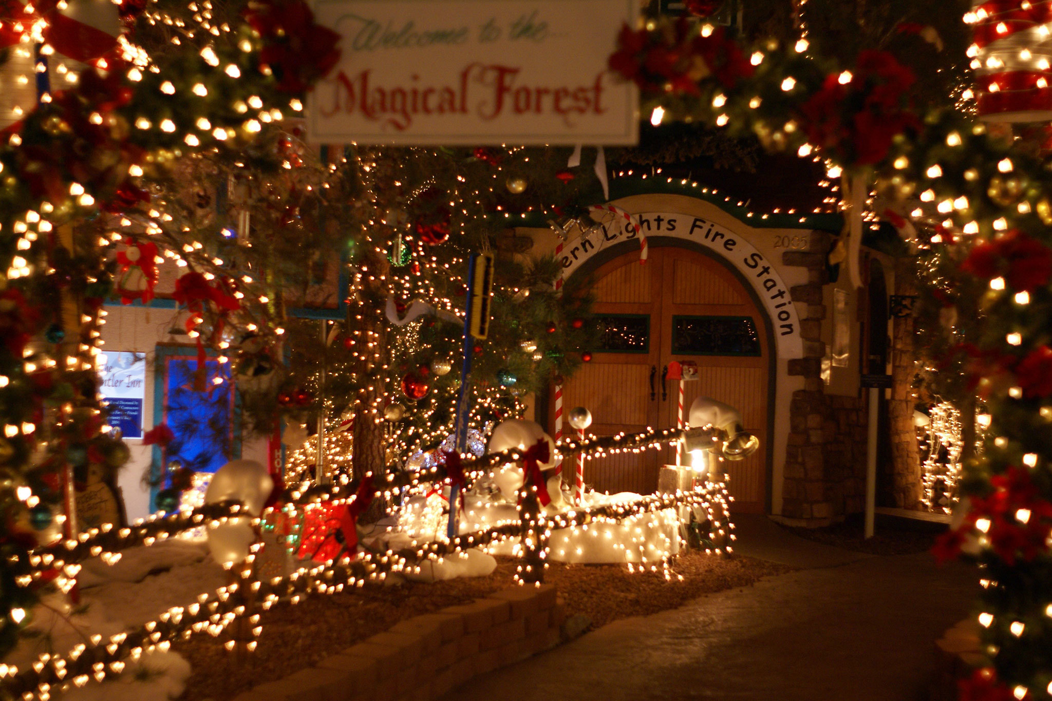 magical forest at opportunity village - Lights For Christmas Village