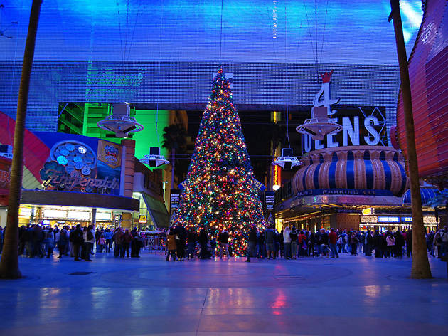 christmas events in las vegas fremont street experience - Las Vegas Christmas Decorations