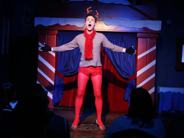 Grant Drager as Rudolph in the 2014 production of Rudolph the Red-Hosed Reindeer