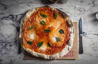 Margherita di bufala pizza at Marta