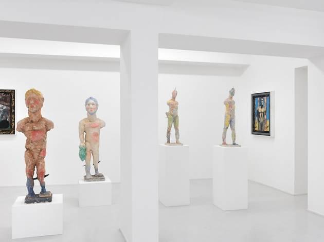 (Vue de l'exposition de Markus Lüpertz / Courtesy de l'artiste et de la galerie Suzanne Tarasieve, Paris)