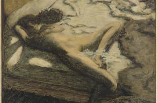 (Pierre Bonnard, 'Femme assoupie sur un lit' ou 'L'Indolente', 1899 / © RMN-Grand Palais (Musée d'Orsay) / Thierry Le Mage / © ADAGP, Paris 2014)