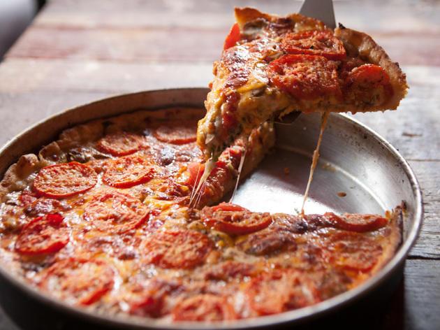 Lou Malnati's deep dish pizza