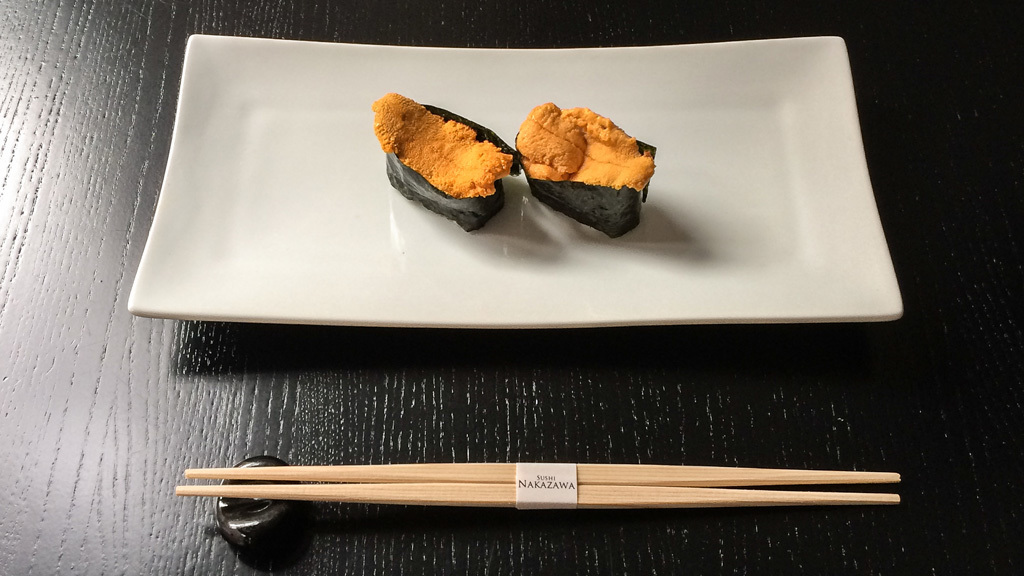 Uni at Sushi Nakazawa