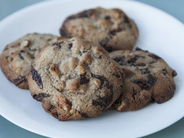 Chocolate chunk cookie at Maman