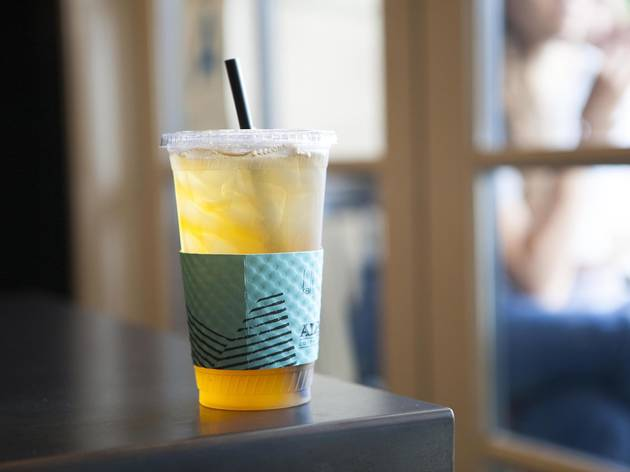 Coconut iced tea at Alfred's Coffee & Kitchen