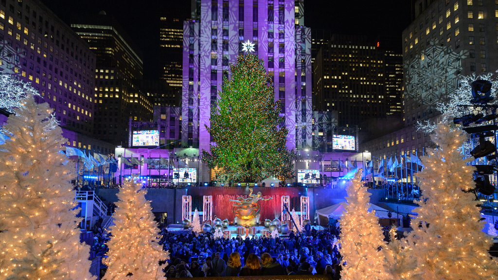 See photos of the Rockefeller Center Christmas Tree Lighting (2014) - Rockefeller Center Christmas Tree In NYC Guide