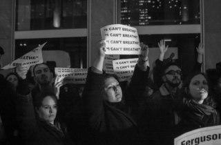 See powerful photos of last night's protests in NYC after Eric Garner grand jury decision