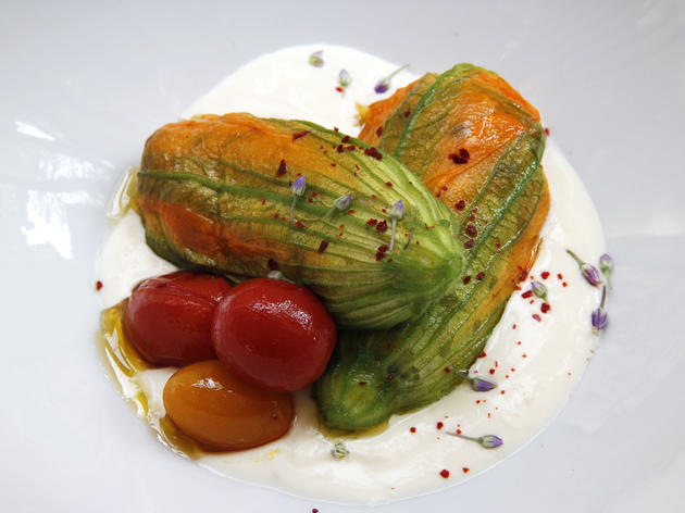 Squash Blossoms at Elan