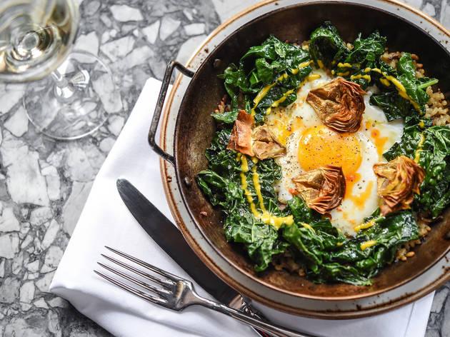 Kale & Wild Mushroom Paella at Gato