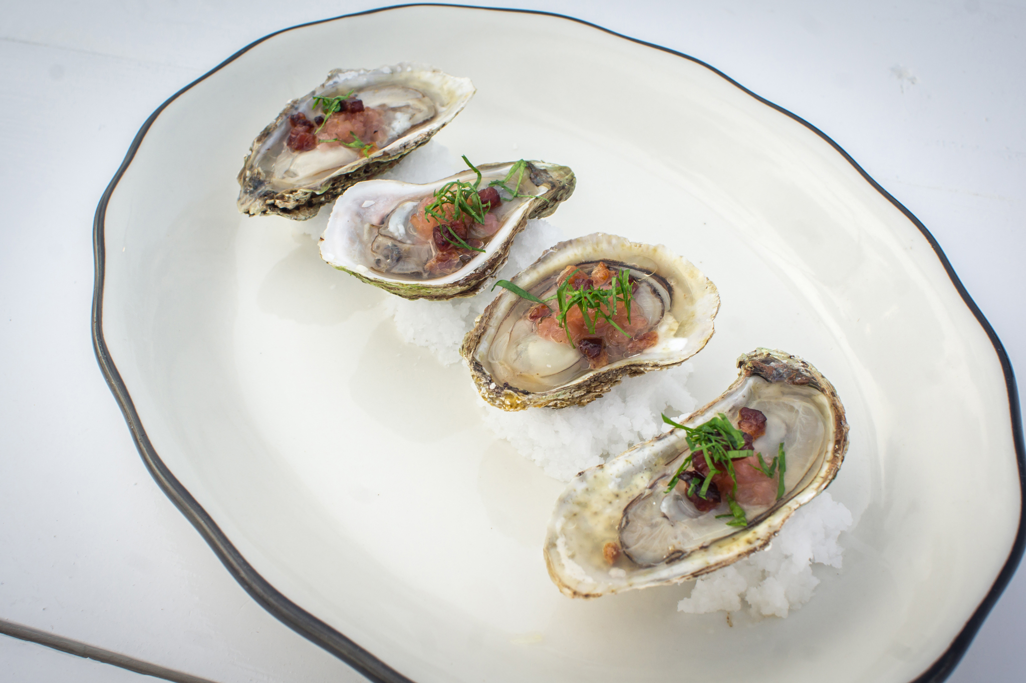 GRAND BANKS baked oysters