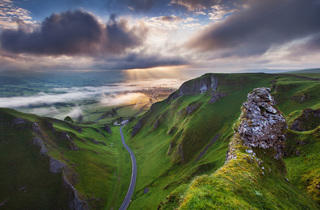 (Sunrise at Winnats Pass, Derbyshire, England by Sven Mueller – VisitBritain 'You're invited' Award for the best image from an overseas entrant – Winner 2014)