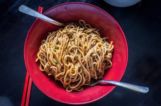 Dan dan noodles at Han Dynasty