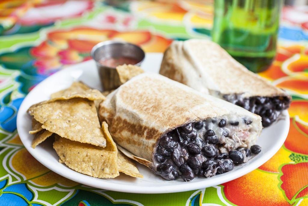 Burrito at Mission Cantina