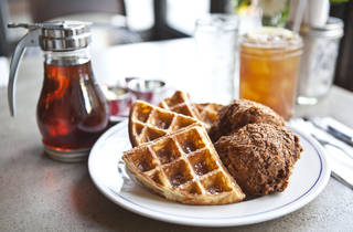 Chicken and Waffles at Sweet Chick