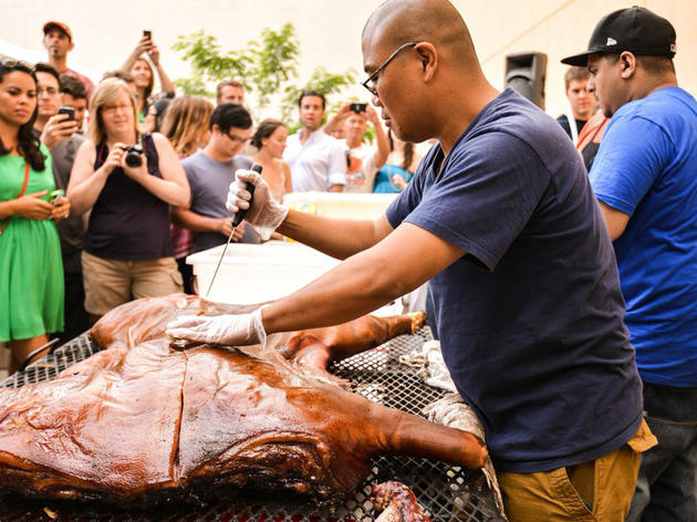 Whole hog BBQ at Arrogant Swine