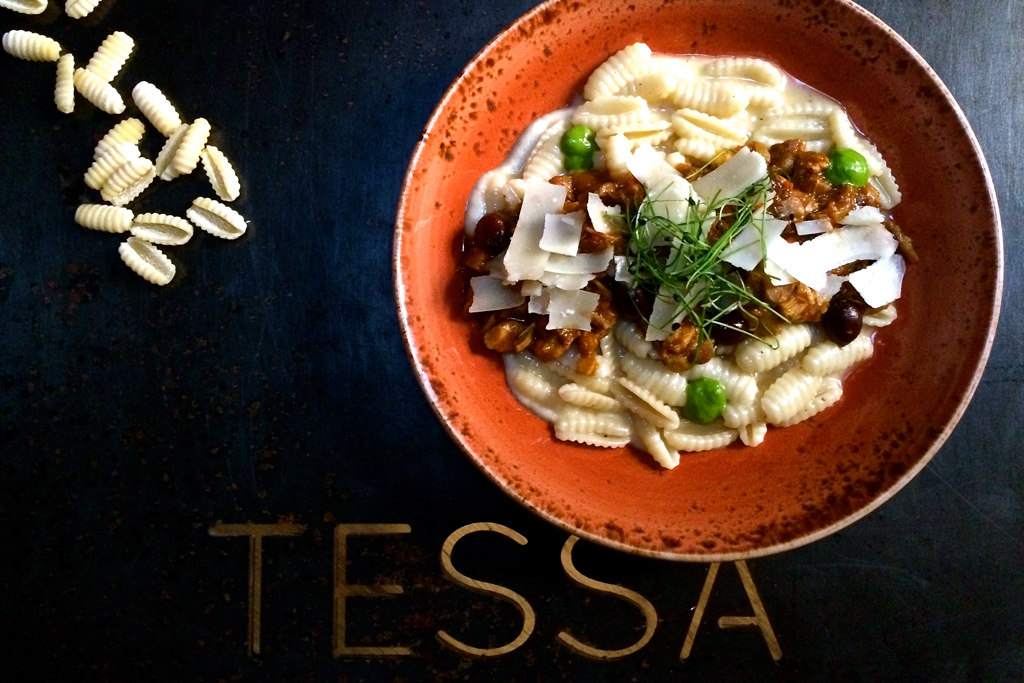Rabbit cavatelli at Tessa