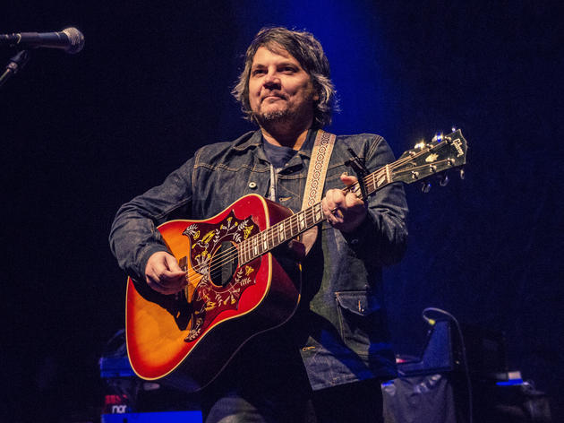 Jeff Tweedy of Wilco playing his guitar