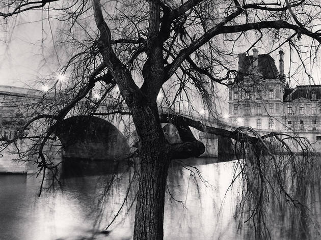 (Michael Kenna, 'Tree, Pont Royal and Louvre', Paris, France, 2013 / © Michael Kenna / Musée Carnavalet)