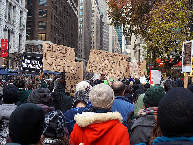 Ferguson and Erik Garner protests and demonstrations in NYC