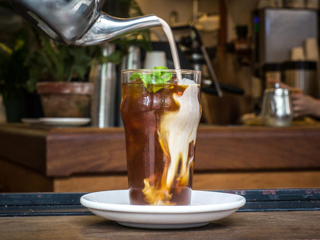 Mexican iced mocha at El Rey Luncheonette and Coffee Bar
