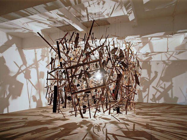 Cornelia Parker, Cold Dark Matter, An Exploded View, 1991