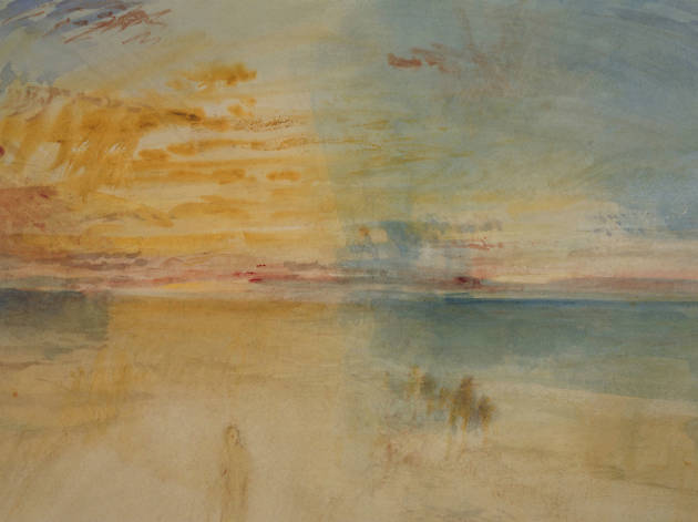 J.M.W. Turner Sunset on Wet Sand 1845 Courtesy Whitworth Art Gallery