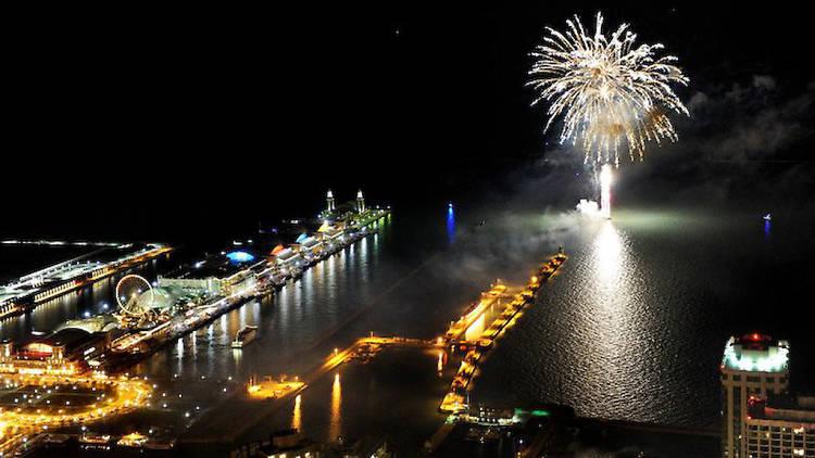Fuegos artificiales de Fin de Año en Navy Pier