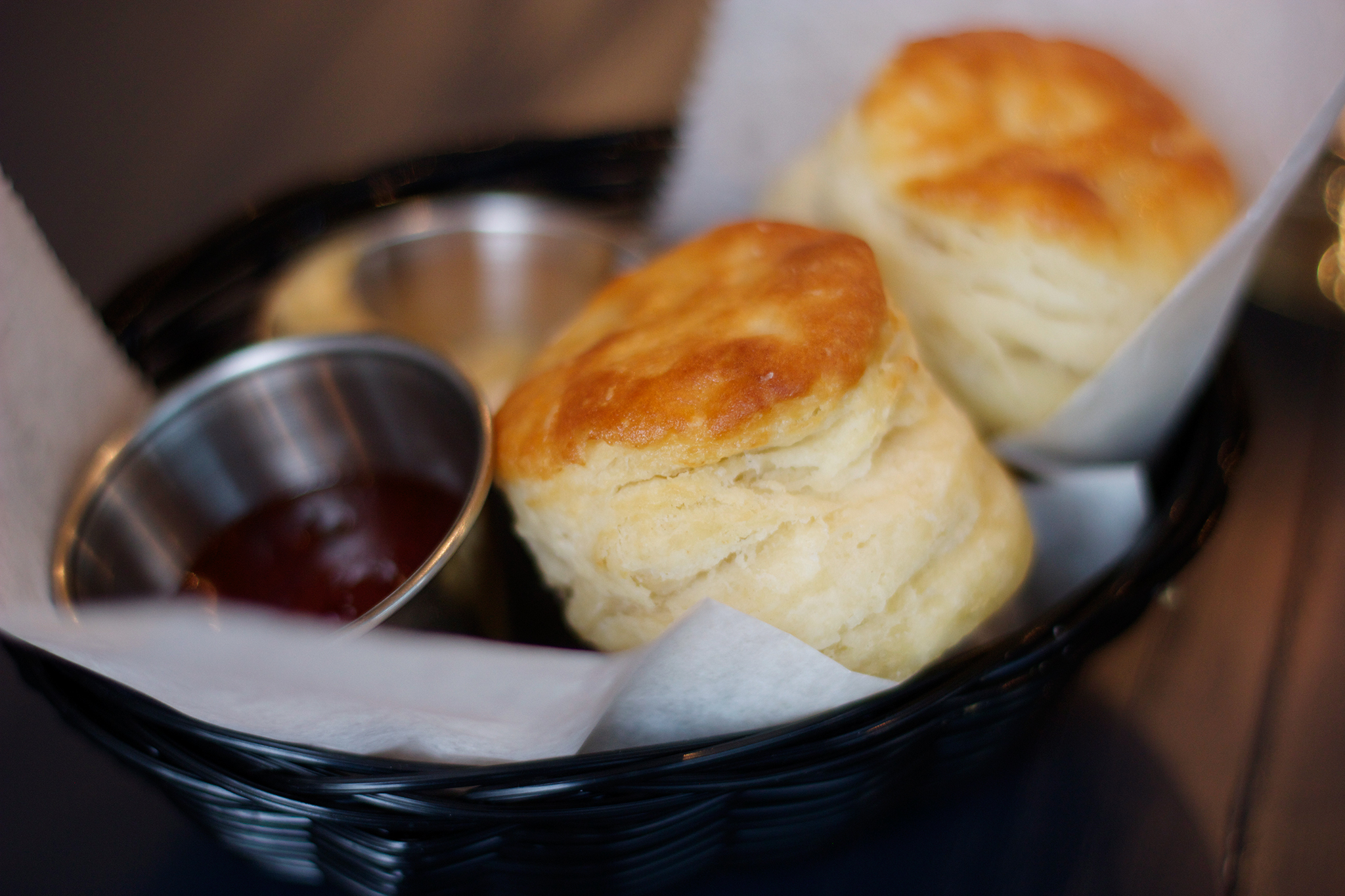 Basket of biscuits at Analogue