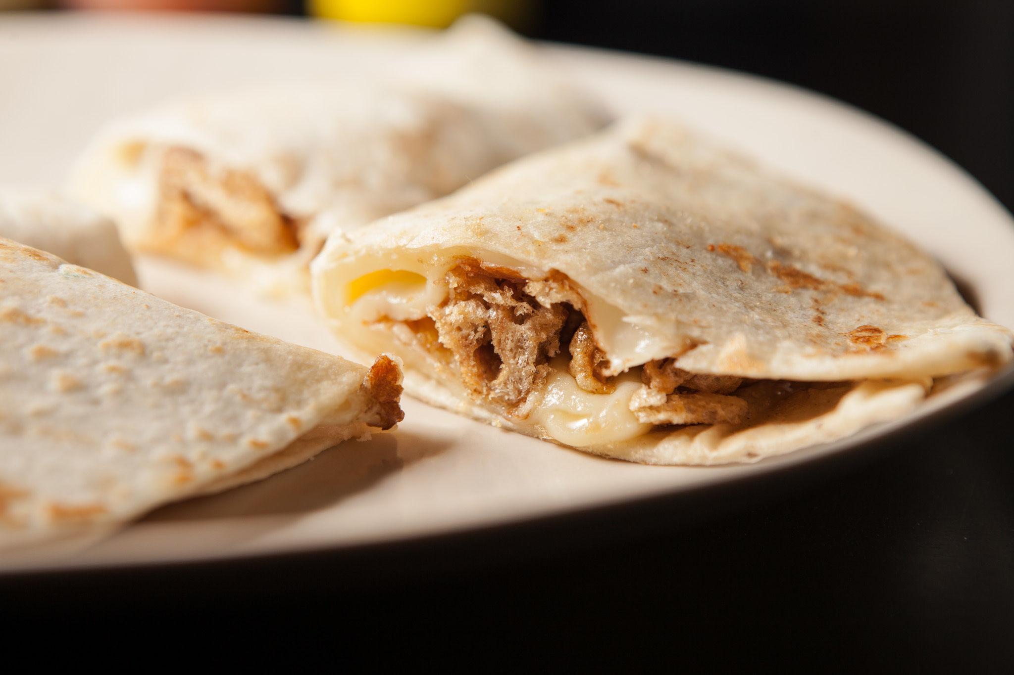 Chicharron quesadilla at Cemitas Puebla