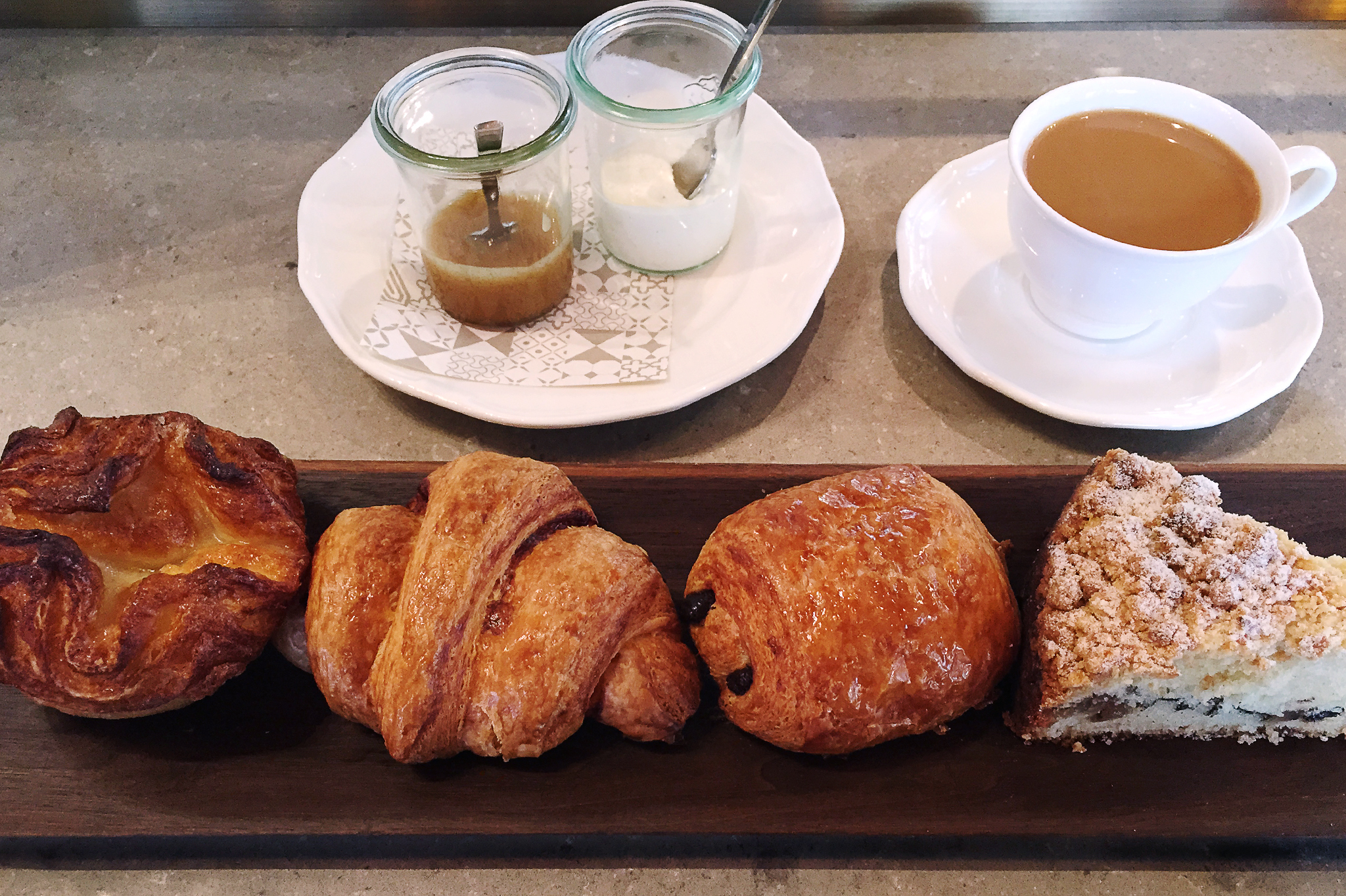 Assorted pastry abbondanza at Nico Osteria Smile at your server, because she selects the four items on your pastry board. While there are zero misses among Amanda Rockman's pastries, you absolutely want yours to include the sweet and crumbly chestnut cof
