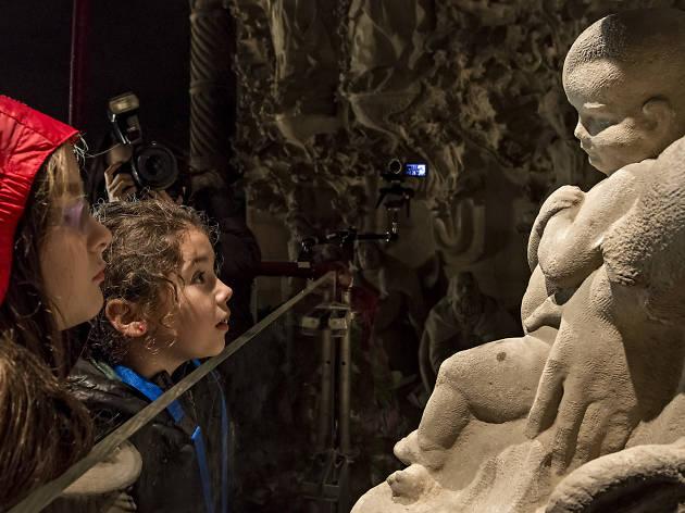 Christmas 2016: The adoration of the Baby Jesus on the Birth Façade of the Sagrada Família
