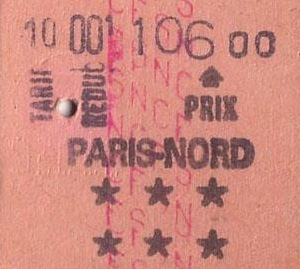 ticket paris nord