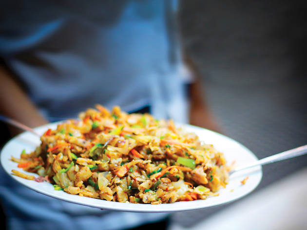 Kottu is popular street food in Sri Lanka