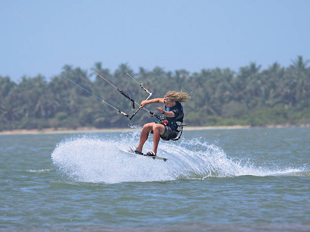 Kite surfing is a popular adventure sport in Sri Lanka
