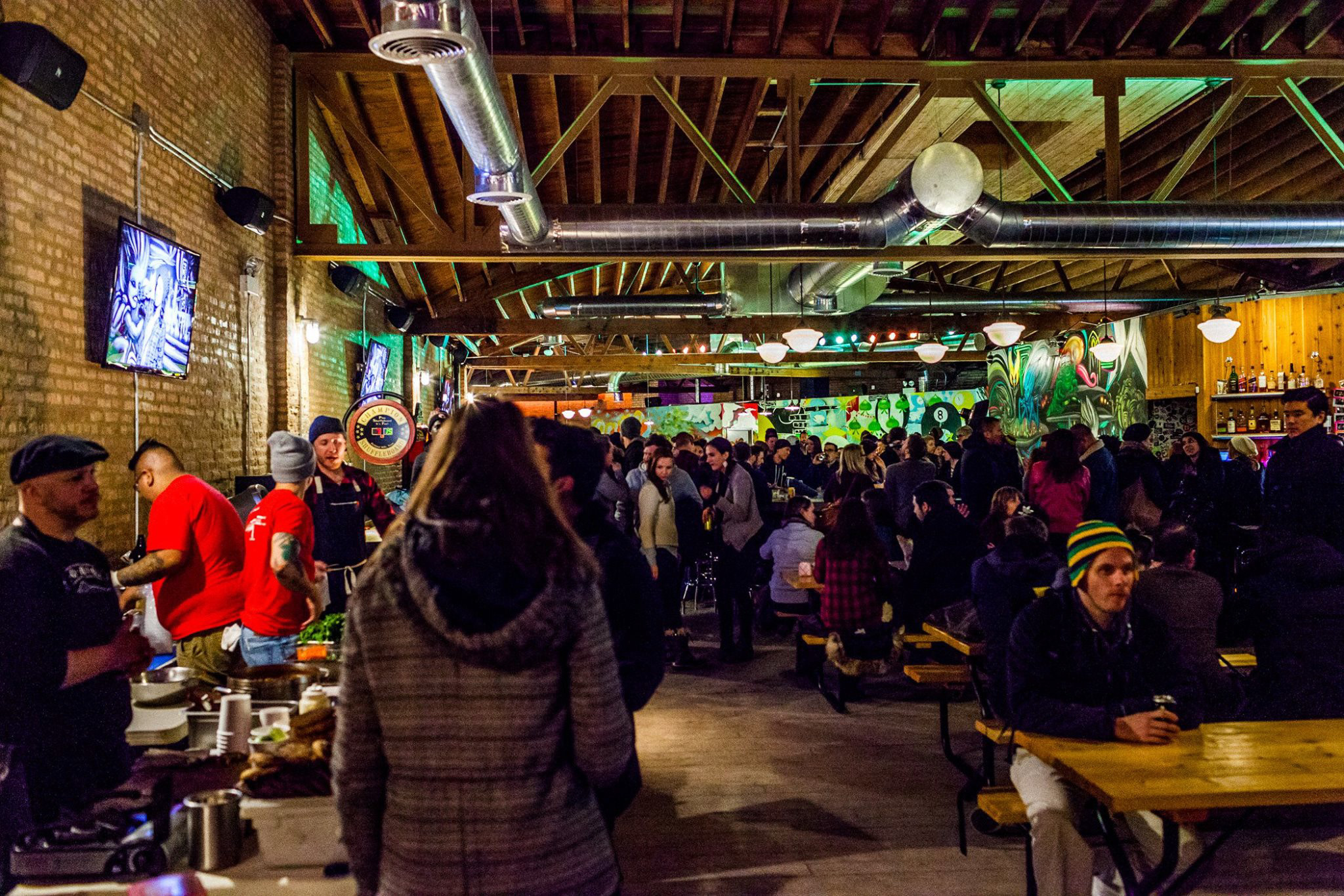 Sauced Night Market at Emporium Arcade Bar in Logan Square.