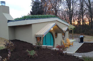 Stay at this Hobbit-inspired cabin in Carbondale, Illinois.